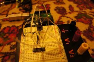 Управление двигателем постоянного тока c ИК пульта (с использованием микросхемы L293DNE)