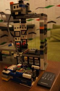 Проект «Управляемый ИК пультом лифт для трехэтажной парковки Лего»