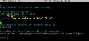 Raspberry Pi /etc/rc.local тонкости для старта скриптов python